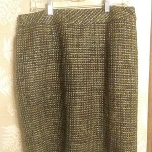 Coldwater Creek tweed pencil skirt
